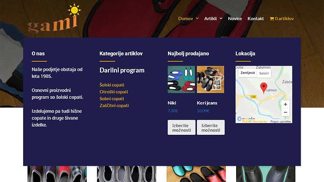 Nova spletna stran s spletno trgovino